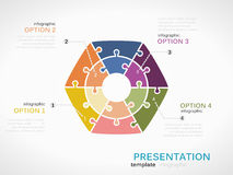 Infographic hexagon presentation Royalty Free Stock Image