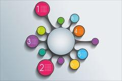 Infographic Hintergrund Lizenzfreie Stockbilder