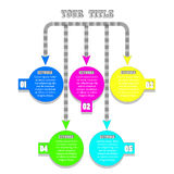 Infographic Hintergrund Stockfotos