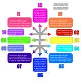 Infographic Hintergrund Lizenzfreie Stockfotografie