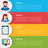 Infographic Hintergrund der flachen Bildung. Lizenzfreies Stockfoto