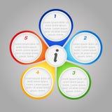 Infographic Hintergrund des Vektors Lizenzfreies Stockbild