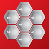 Infographic-Hintergrunddesign mit Hexagonformen Lizenzfreie Stockfotografie
