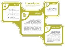 Infographic Hintergrundkonzept des grünen abstrakten Vektors Lizenzfreie Stockbilder
