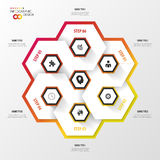 Infographic with honeycomb structure on the grey background. Modern design Royalty Free Stock Photo