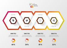 Infographic with honeycomb structure on the grey background. Modern design Stock Image