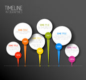 Infographic horizontal dark timeline report template Royalty Free Stock Photo