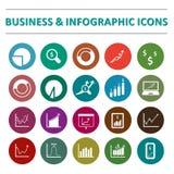 Infographic i biznesowy ikona set Zdjęcie Stock