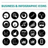Infographic i biznesowy ikona set Zdjęcia Stock