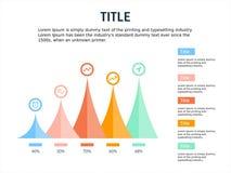 Infographic i ppt szablonu projekta cztery kroki z halnym tematem royalty ilustracja