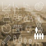 Infographic i statystyczne ikony Obrazy Stock