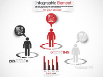 Infographic icon man business Royalty Free Stock Images