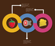 Infographic icon. Nutrition and Organic food. Vector graphic Royalty Free Stock Photography
