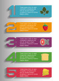 Infographic icon. Nutrition and Organic food. Vector graphic Royalty Free Stock Images
