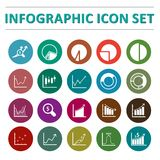 Infographic icon set. Infographic and business  icon set. Vector illustration Royalty Free Stock Photography