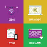 Infographic icon set Stock Photography