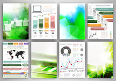 Infographic icons and backgrounds Stock Image