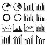 Infographic icons - charts and graphs. Infographic icons. Set of charts and graphs. Vector illustration Royalty Free Stock Photos