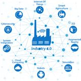 Industrial internet or industry 4.0 concept Royalty Free Stock Photos