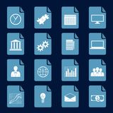Infographic icons set Royalty Free Stock Images