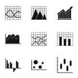 Infographic icons set, simple style. Infographic icons set. Simple set of 9 infographic vector icons for web isolated on white background Royalty Free Stock Photo