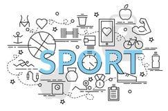 Flat colorful design concept for Sport. vector illustration