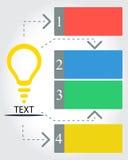 Infographic IDEE Stock Foto