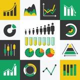 Infographic Ikonen des Geschäfts stock abbildung