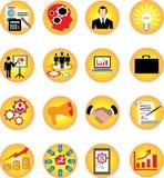 Infographic-Ikonen stellten Geschäft und Finanzierung - Vektor-Illustration ein stock abbildung
