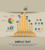 Infographic-Ikonenvektor Stockfotografie