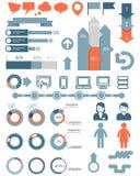 Infographic ikony i elementy Zdjęcie Stock