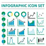 Infographic ikony set Obraz Royalty Free