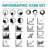 Infographic ikony set Zdjęcia Royalty Free