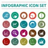 Infographic ikony set Zdjęcie Royalty Free