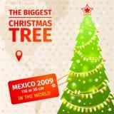 Infographic Il più grande albero di Natale illustrazione di stock