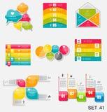 Infographic模板的汇集企业传染媒介的Illustra 免版税库存图片