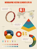 Infographic Illustration des Details. Stockfotos