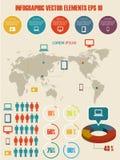 Infographic illustration för detalj. Royaltyfria Bilder