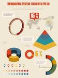 Infographic illustration för detalj. Arkivfoton