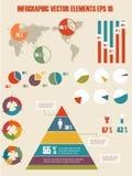 Infographic illustration för detalj. Royaltyfri Bild