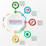 Infographic illustration i vektor royaltyfri illustrationer