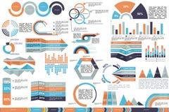 Infographic illustration i vektor Vektoraffärsmall royaltyfri illustrationer