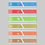 infographic illustration kan användas för workfloworientering, diagram, numrerar den optionsinfographic illustrationen Royaltyfria Bilder