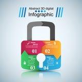 Infographic illustration. Lock icon. Royalty Free Stock Photo