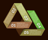 Infographic with impossible triangle Royalty Free Stock Photography