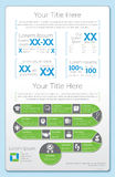 Infographic impressionante 1 Foto de Stock Royalty Free