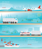 Infographic of Industrial transport. Royalty Free Stock Photography