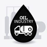 Infographic industric del petróleo y del aceite Fotografía de archivo libre de regalías