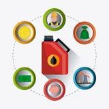Infographic industric del petróleo y del aceite Fotografía de archivo