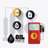 Infographic industric del petróleo y del aceite Fotos de archivo